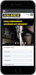 Referenz HUMER Website: mobil